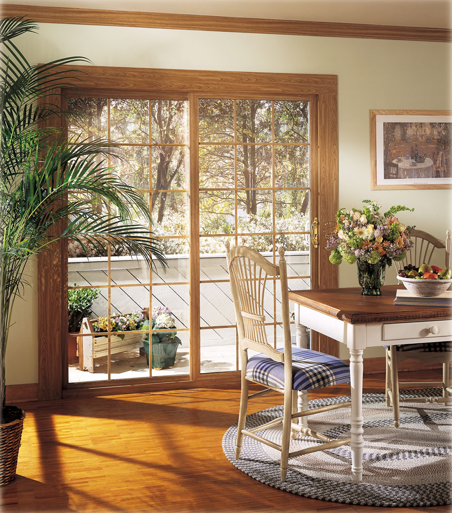 Nice Alside Patio Doors Are Available In White, Beige, And Three Interior  Woodgrain Finishes